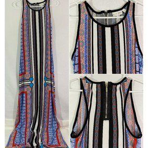 ⭐️ Bisou Bisou Sleeveless Maxi Dress Striped